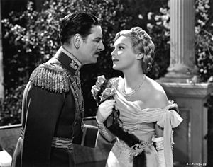 Ronald Colman and Madeleine Caroll in the 1937 Hollywood version of the Prisoner of Zenda