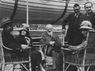 The four founders of the LSE (seated)