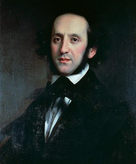 UNSPECIFIED - DECEMBER 13: Portrait of the composer and conductor Felix Mendelssohn (Hamburg, 1809-Leipzig, 1847), 1856, painting by Eduard Magnus (1799-1872). 19th century. Berlin, Bildarchiv Preussischer Kulturbesitz (Archive Of The National Library) (Photo by DeAgostini/Getty Images)